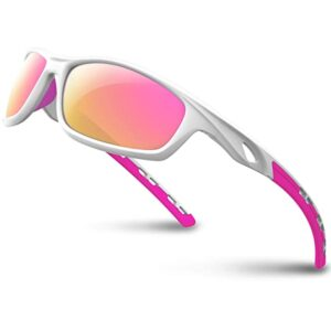 RIVBOS Polarized Sports Sunglasses for Women Men Driving shades Cycling Running.