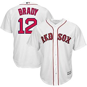 MLB X NFL Official Crossover Youth 8-20 Cool Base White Home Player Replica Jersey